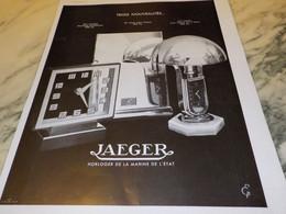 ANCIENNE PUBLICITE MONTRE PENDULE  JAEGER LECOULTRE  1934 - Gioielli & Orologeria
