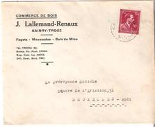 "N° 724N S/Lettre De ""SAINRY-TROOZ"" J. LALLEMAND-RENAUX - 1946 -10%"