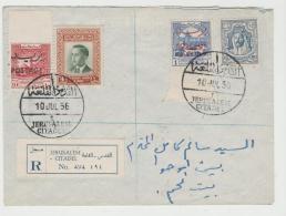 ARA047 / Jerusalem - Bethlehem 1956 Per Einschreiben Jerusalem Citadel - Jordanien
