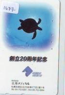 Télécarte Japon * TORTUE  (1677)  PHONECARD JAPAN *  * TURTLE *  TELEFONKARTE * SCHILDKRÖTE - Schildpadden