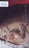 Télécarte Japon * TORTUE  (1678)  PHONECARD JAPAN *  * TURTLE *  TELEFONKARTE * SCHILDKRÖTE - Turtles