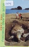 Télécarte Japon * TORTUE  (1679)  PHONECARD JAPAN *  * TURTLE *  TELEFONKARTE * SCHILDKRÖTE - Turtles