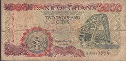 Ghana - 2000 CEDIS (1st July 1999) AU 9040564 Bridge Brücke Pont (2 Scans) - Ghana