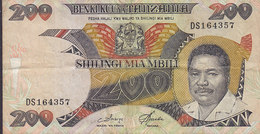Tanzania - 100 SHILINGI MIA MBILI, DS 164357 (2 Scans) - Tanzanie