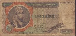 Zaire - 1 ZAIRES (27-10-1975) C 2589467 K (2 Scans) - Zaire