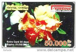 Laos Phonecard Blumen Flowers  Fleurs Orchidee - - Laos