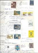 Lot De 10 Timbres VATICAN (vaticano) Sur Carte Postale Tous Différents - Voir Scan - Other