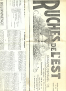Journal Des Ruches De L'Est  Année 1938  Mensuel De L'Association Catholique De La Jeunesse Féminine - Religion