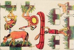 Petite Carte 128 X 85 Mm  Découpis Sur Le Thème  Des Indiens - Découpis