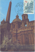 ITALIA - FDC MAXIMUM CARD 1985 - EXPO - ARTE - CHIESA DI SANT ´ AGNESE - ANNULLO SPECIALE - Cartoline Maximum