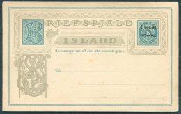 Iceland 5 Aur Gildi Stationery Postcard - Entiers Postaux