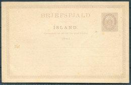 Iceland 8 Aur Lilac Numeral Stationery Postcard - Entiers Postaux