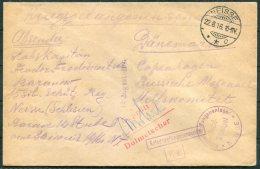 1916 Germany POW Kriegsgefangenen Guerre Lager Censor Cover - Red Cross, Copenhagen. Neisse - Briefe U. Dokumente