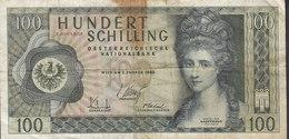 Austria - 100 SCHILLING (1959) 2. Auflage Angelika Kauffmann W 603718 G (2 Scans) - Oesterreich