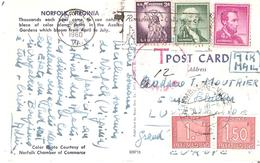 T.Tx. 30-31 LUXEMBOURG 30/4/1960 S/C.P. De NORFOLK(USA Virginie) - Postage Due