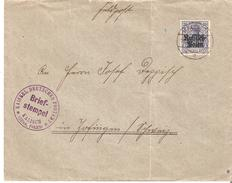 Occ.Allemande TP.20pf. Surch. RUSSICH POLEN S/L. V. ZOFINGEN Cad + Censure Briefstempel De KALISCH - 1939-44: 2. WK