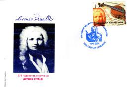 Macedonia / 2016 / FDC / Music - The 275th Anniversary Of The Death Of Antonio Vivaldi - Macédoine