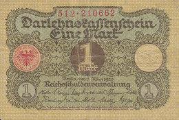 Germany - 1 MARK Darlehnskassenschein Reichsschuldenverwaltung (1.3.1920) 512 210662 (2 Scans) - Deutschland