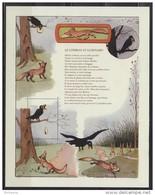 A SAISIR Bloc Gommé Le Corbeau Et Le Renard Phil@poste Sans Valeur Faciale Texte De La Fable Neuf - Blocs & Feuillets