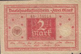 Germany - 2 MARK Darlehnskassenschein Reichsschuldenverwaltung (1.3.1920) 48 734014 (2 Scans) - Deutschland