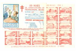 BELGIE - VIGNETTEN Antitering  1947 Tweede Reeks - Volledig Vel In  4 Verschillende Kleuren In Originele Omslag - Commemorative Labels