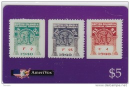 United States, SKU-23598, British Columbia Telephone Company Stamps, Mint, Only 1000 Issued, 2 Scans.  Special Offer. - Stati Uniti