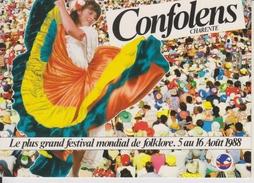 D16 - CONFOLENS - FESTIVAL INTERNATIONAL DE CONFOLENS FOLKLORE DU MONDE DU 5 AU 16 AOUT 1988 - CPSM Grand Format - Confolens