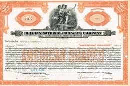 Action Ancienne - Belgian National Railways Company (SNCB) - Depositary American Share - Titre De 1929 - Chemin De Fer & Tramway