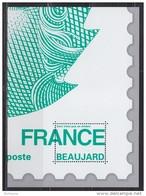 = Bloc Gommé Marianne Beaujard Lettre Verte Philaposte Sans Valeur Faciale Représentation 1/4 Du Timbre 4593 - Blocs & Feuillets