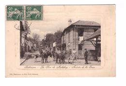 92 Robinson Rue De Malabry Arrivée De La Gare Cpa Animée Ane , Voir Etat Ci Dessous - Le Plessis Robinson