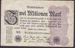 Germany - 2.000.000 MARK Reichsbanknote Berlin (9-8-1923) (WB) (2 Scans) - 1918-1933: Weimarer Republik
