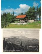 1406w: 2 Ansichtskarten 2763 Pernitz, Neu Und Alt, Hüttenstempel Berndorfer Hütte Hoher Mandling - Pernitz