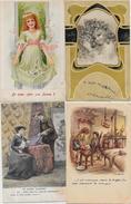 Lot N° 235 De 100 CPA Fantaisies Illustrateurs Déstockage Pour Revendeurs Ou Collectionneurs  PORT GRATUIT FRANCE - Postales