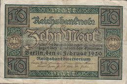 Germany - 10 MARK Reichsbanknote Berlin (1-2-1920) O 2054593 (2 Scans) - [ 3] 1918-1933 : Weimar Republic