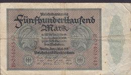 Germany - 500.000 MARK Reichsbanknote Berlin (1-5-1923) B 05405545 (2 Scans) - 1918-1933: Weimarer Republik