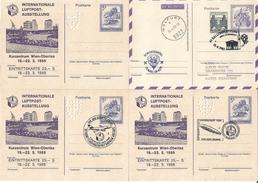 1406n: 4 Privatganzsachen Mit Luftpost- Motiv Aus 1988