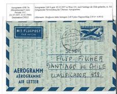 1406o: Gutes Aerogramm, Destination Chile, RR, Aus 1957- Siehe Beschreibung