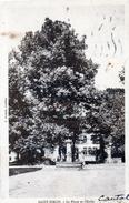 Cpa 1945 SAINT SIMON, La Place Et L'école , Fontaine Municipale     (39.44) - Other Municipalities