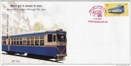 Souvenir Cover, Limited Edition,  Red Cancellation, Transport History, Tram  2017 - Strassenbahnen