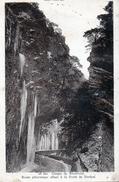 Cpa 1942, Timbres Pétain,   Gorges De Rioufroid, Route Pittoresque Allant à La Forêt De Durban, Cascades Gelées  (39.98) - Autres Communes
