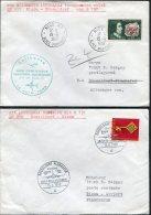 1968 France Germany Lufthansa First Flight Covers(2) Nice / Dusseldorf - Poste Aérienne