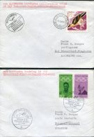 1968 Romania Germany Lufthansa First Flight Covers(2) Bucuresti / Dusseldorf - Aéreo
