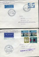 1964 Sweden Germany Lufthansa First Flight Covers(2) Stockholm / Frankfurt