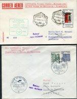 1965 Spain Germany Lufthansa First Flight Covers(2) Palma De Mallorca / Frankfurt - Poste Aérienne