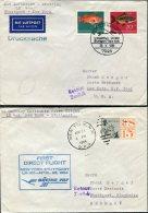 1964 Germany USA Lufthansa First Flight Covers(2) Stuttgart / New York - [7] République Fédérale