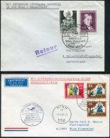 1967 Austria Germany Lufthansa First Flight Covers(2) Wien / Dusseldorf - Poste Aérienne