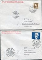 1968 Denmark Germany Lufthansa First Flight Covers(2) Copenhagen / Stuttgart - Airmail