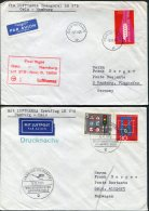 1966 Norway Germany Lufthansa First Flight Covers(2) Oslo / Hamburg - Poste Aérienne