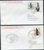 1982 Cyprus Germany Lufthansa First Flight Covers(2) Larnaca / Hamburg - Covers & Documents