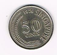)  SINGAPORE  50 CENTS  1976 - Singapour